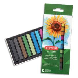 DERWENT ACADEMY Set de 12 pastels tendres, couleurs assorties photo du produit