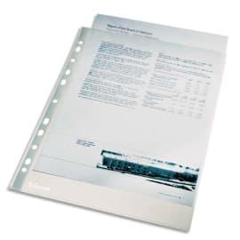 ESSELTE Sachet de 100 pochettes perforées A4 en polypropylène lisse 4/100e incolore photo du produit