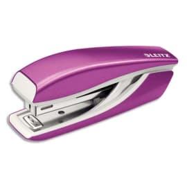 LEITZ Mini agrafeuse Violet - En métal - Capacité 30 feuilles - Livrée en Boîte photo du produit