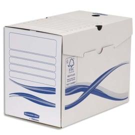 BANKERS BOX Lot 10 boîtes archives dos 20cm BASIQUE, montage manuel, carton recyclé. Sous film. photo du produit