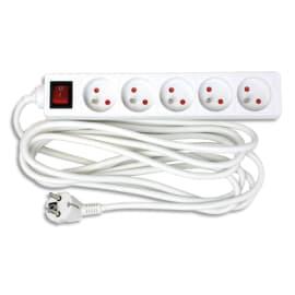 WONDAY Bloc multiprises électriques 5 prises électriques 4m avec interrupteur GAE000462 photo du produit