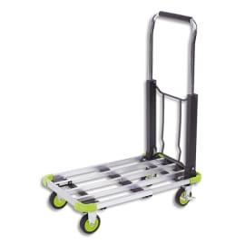 WONDAY Chariot pliable aluminium largeur 40 cm, longueur 50 à 72 cm photo du produit