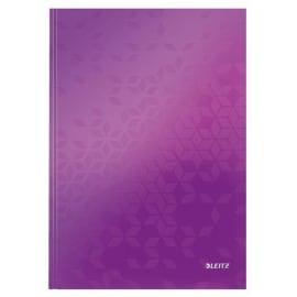 LEITZ Cahier WOW 21x29,7cm, 160 pages lignées. Couverture rigide. Coloris Violet photo du produit