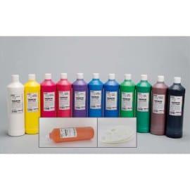 ART PLUS 12 flacons de 1 litre de gouache couleurs assorties avec 2 palettes offertes photo du produit