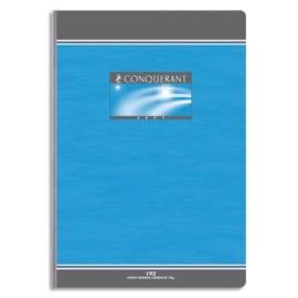 CONQUERANT C7 Cahier reliure brochure 17x22 cm 192 pages 70g petits carreaux 5x5 NF photo du produit