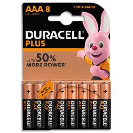 DURACELL Blister de 8 Piles Alcaline 1,5V AAA LR3 Plus Power 5000394018549 photo du produit