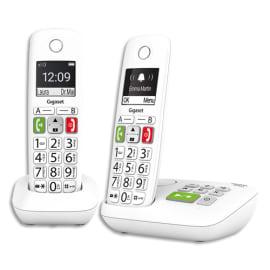 GIGASET Téléphone sans fil E290 duo blanc avec répondeur L36852-H2921-N102 photo du produit