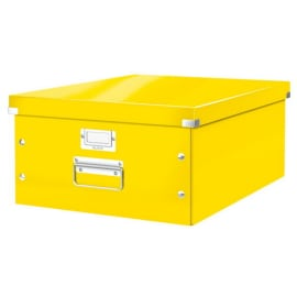 LEITZ Boîte CLICK&STORE L-Box. Format A3 - Dimensions : L36,9xH20xP48,2cm. Coloris Jaune photo du produit