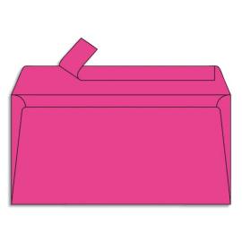 CLAIREFONTAINE Paquet de 20 enveloppes 120g POLLEN 11x22cm (DL). Coloris Rose fuchia photo du produit
