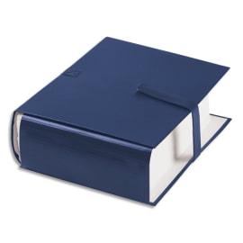 OXFORD Chemise extensible PVC. Fermeture par sangle velcro. Dos 16cm. Coloris Bleu marine photo du produit