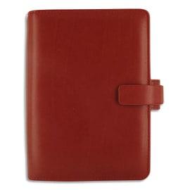 FILOFAX Organisateur Métropol en simili cuir, 1S/2P, format personal : 13,5 x 19 cm Rouge photo du produit