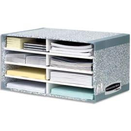 FELLOWES Module de tri carton 8 compartiments Gris photo du produit