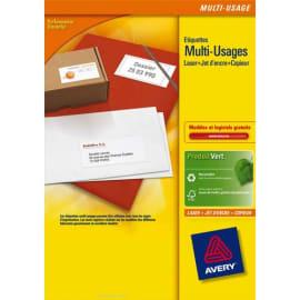 AVERY Boîte de1400 étiquettes Blanches multi usages 105x42.3mm - pour Laser. Jet d'encre et copieur photo du produit