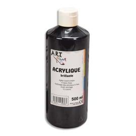 ART PLUS Acrylique brillante 500ml Noir photo du produit