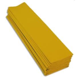 CLAIREFONTAINE Paquet de 10 feuilles de crépon 40% 2x0.5m Jaune photo du produit