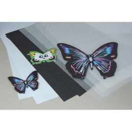 O COLOR Pochette de 30 feuilles A4 de plastique fou, 20 transparentes, 5 Blanches, 5 Noires photo du produit