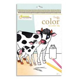 AVENUE MANDARINE Book 24 feuilles format 21 x 34cm à colorier Graffy Color, Maman/bébé La ferme photo du produit