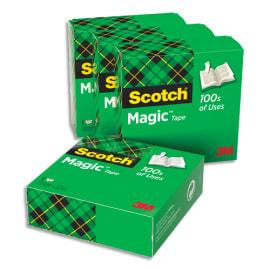 SCOTCH Lot de 4 rubans Magic 810 19mmx33mm photo du produit