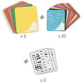 SODERTEX Kit de 1000 pièces créatif Crazy Artist en feutrine adhésive, pour classe entière, 6 x 8 cm photo du produit