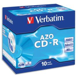 VERBATIM Boîte de 10 CDR 80mn 700Mo photo du produit