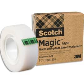 SCOTCH Boîte Individuelle de 1 ruban Magic recyclé, 19mm x 30m photo du produit