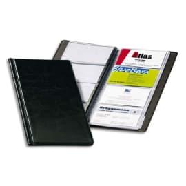 DURABLE Porte-cartes Visifix album pour 96 cartes de visite aspect grain de cuir Noir - L115 x H253 mm photo du produit