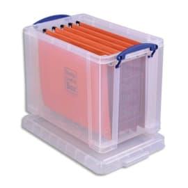 RLU Boîte de rangement 19 Litres + couvercle - Dimensions : L39,5 x H29 x P25,5 cm coloris transparent photo du produit