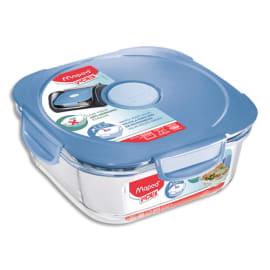 MAPED Boîte à déjeuner Picnik Concept Adulte base en verre borosilicate, couvercle à valve Bleu orage photo du produit