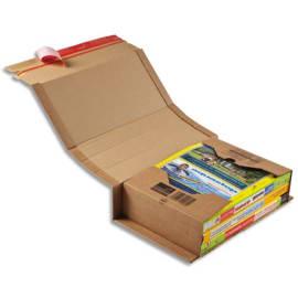 COLOMPAC Etui d'expédition rigide en carton brun - Format C4 : 32,5 x 25 cm, hauteur 8 cm photo du produit