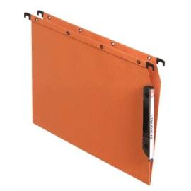 OBLIQUE AZ Boîte de 25 dossiers suspendus ARMOIRE en kraft 240g. Fond V, VELCRO®. Orange photo du produit