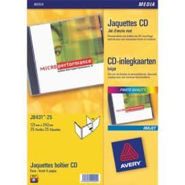 AVERY Boîte de 50 étiquettes Laser monochrome pour CD et DVD L7676-25 photo du produit