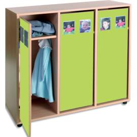 MOBEDUC Vestiaire pour 6 enfants 104 x 40 x 101 cm, Vert pomme photo du produit