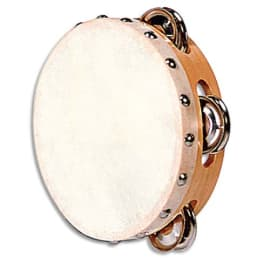 FUZEAU Tambourin en peau naturelle ( 25 cm avec 4 paires de cymbalettes ) photo du produit