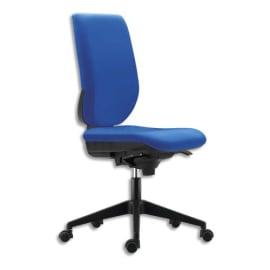 Siège Tertio dossier et assise tissu Bleu, à mécanisme synchrone, piétement nylon, sans accoudoirs photo du produit