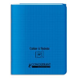 OXFORD C9 Cahier 24x32, 96 pages, 90g, Seyès, couverture polypro Bleue avec rabat photo du produit