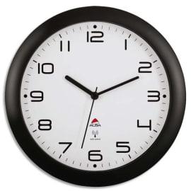 ALBA Horloge mural radio-piloté Hornew, coloris Noir. Diamètre 30 cm photo du produit