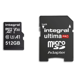 INTEGRAL Carte SDXC 512Go 4K INMSDX512G100/80V30 photo du produit