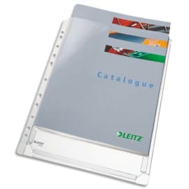 LEITZ Sachet de 5 pochettes à soufflet perforées en PVC grainé 170 µ, peut contenir jusqu'à 200 feuilles photo du produit