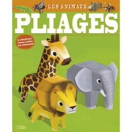 LITO DIFFUSION Bloc de 16 pages, 7 animaux à plier sans ciseaux sans colle et gommettes pour décorer photo du produit