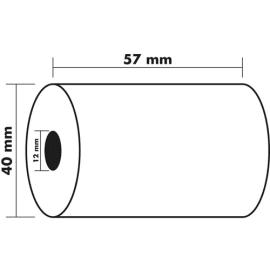 EXACOMPTA Bobine carte bancaire 57x40x12mm, 18 mètres, papier thermique 1 pli sans Bisphénol A 55g FSC photo du produit