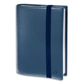 QUO VADIS Agenda Time and Life 1 S/2P + répertoire, fermeture élastique - format 16 x 24 cm Bleu métal photo du produit