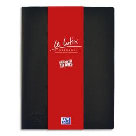 OXFORD Protège documents LUTIN ORIGINAL 20 vues, 10 pochettes. En PVC opaque. Format A4. Coloris Noir photo du produit