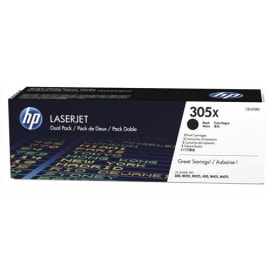 HP Pack de 2 toners Noir 305X CE410XD photo du produit