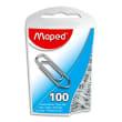 MAPED Boîte de 100 trombonnes en acier galvanisé 25mm photo du produit