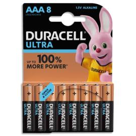 DURACELL Blister de 8 piles Alcalines 1,5V AAA LR03 Ultra Power Duralock 5000394002746 photo du produit