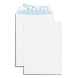 GPV Boîte de 500 pochettes auto-adhésives velin Blanc 90g format 176x250 B5 photo du produit