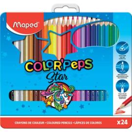 MAPED Boîte métallique de 24 crayons de couleur assortis photo du produit