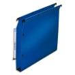 OBLIQUE AZ Paquet de 10 dossiers suspendus ARMOIRE en polypro opaque 5/10e. Fond 30, bouton-pression.Bleu photo du produit