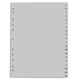 Jeu d'intercalaires alphabétique 20 positions en polypropylène A4 Blanc photo du produit