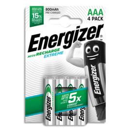 ENERGIZER Blister de 4 piles AAA LR03 Extrem recheargeable 800 mAh 7638900416879 photo du produit